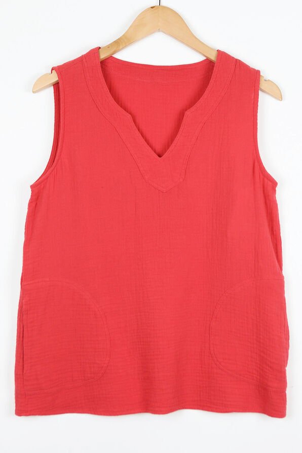 Perfectly Pocketed Sleeveless Top, , original image number 2
