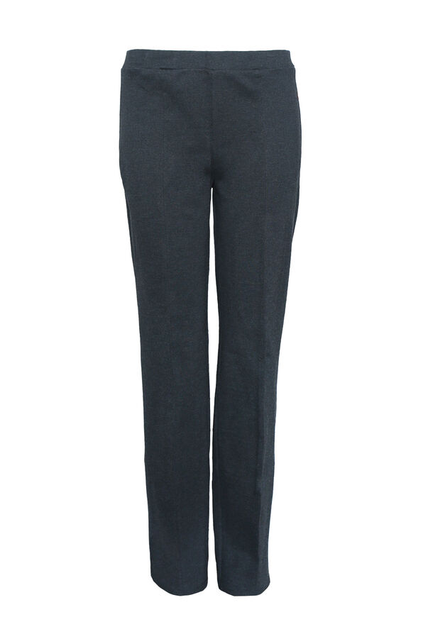Petite Pull On Straight Leg Pant, , original image number 0