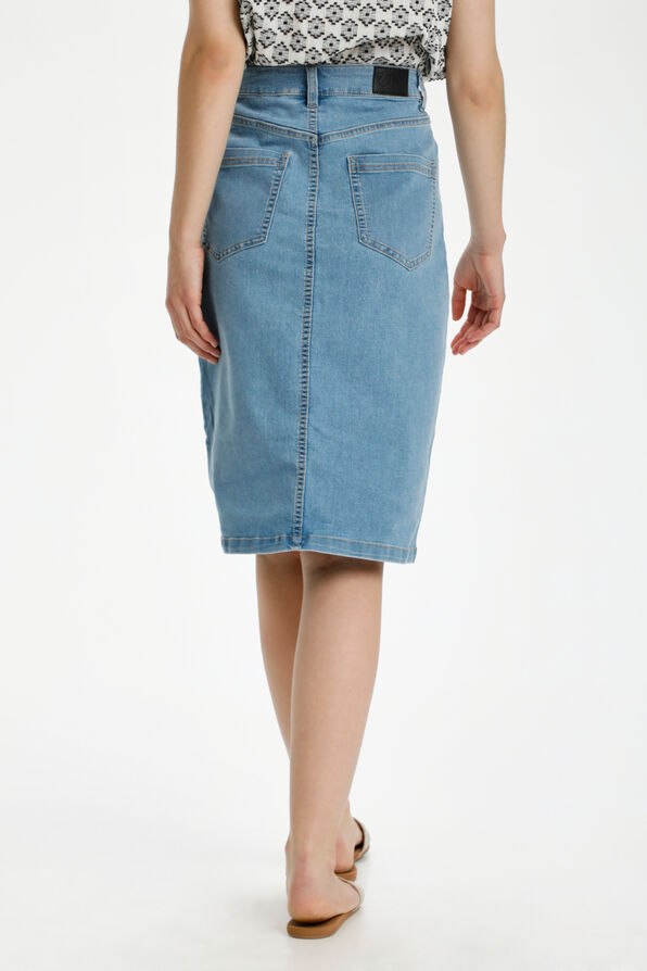Kaffe Atalin Denim Skirt Midi Length, Denim, original image number 2