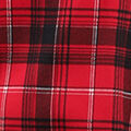 Cowl Neck Dolman Sleeve Plaid, Red, swatch
