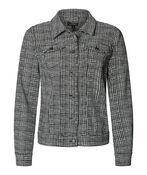Adora Jaquard Knit Denim Style Jacket, Black, original image number 0