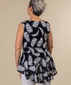 Tail Feather Top, Navy, original image number 1