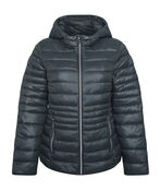 Packable Short Ultralight Hooded Puffer Coat , , original image number 0