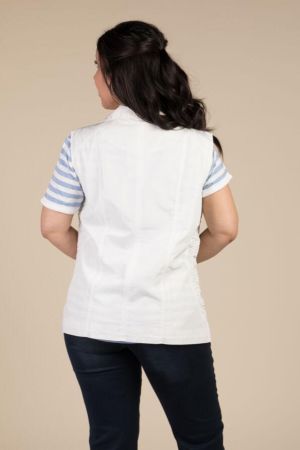 Zip Front Vest, White, original image number 1