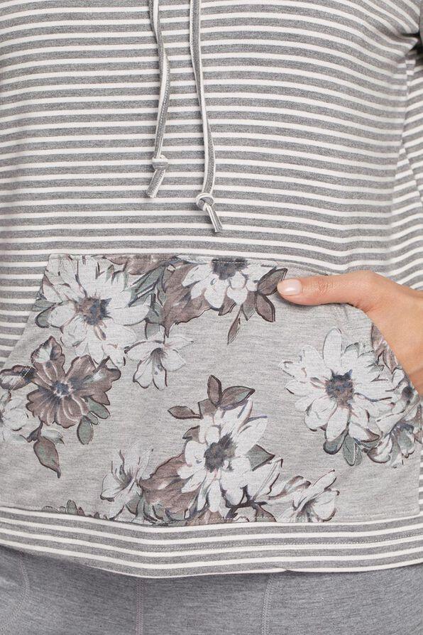 Cowl Athleisure Sweater, Grey, original image number 2