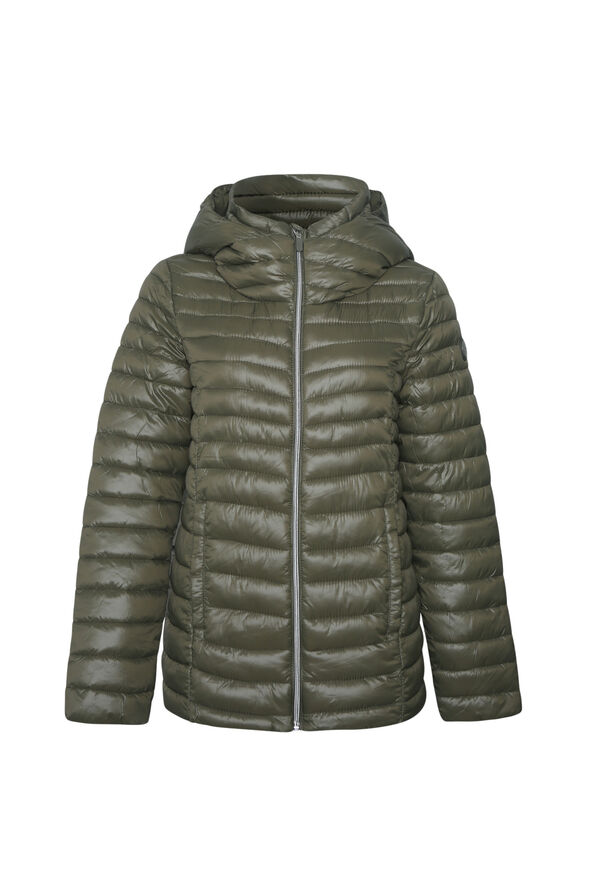 Slim Fit Ultralight Hooded Puffer Coat, , original image number 2