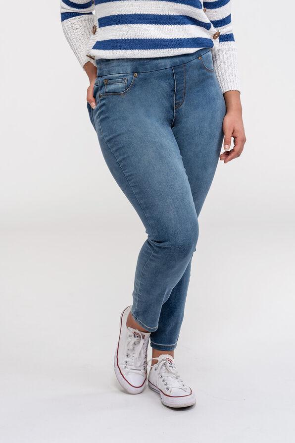 Tribal Audrey Pull-On Ankle Jean, , original image number 0