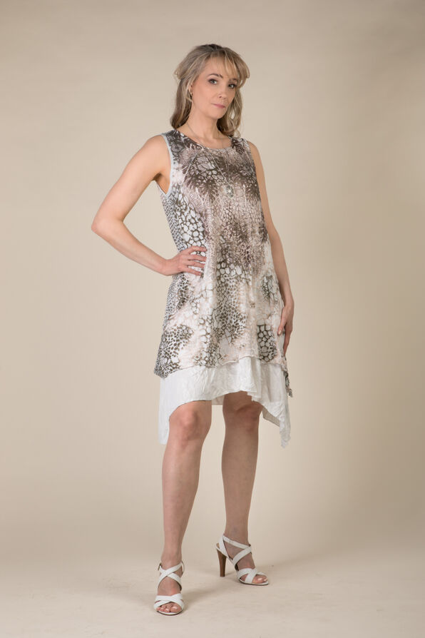 Pamela Animal Print Dress, Multi, original image number 0