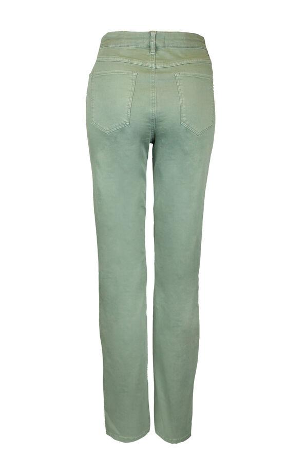 Green Audrey Denim Straight Leg, Green, original image number 3