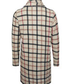 Plaid Tunic with Cowl Neck, Brown, original image number 1