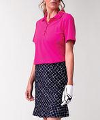Golf Performance Short Sleeve Top, Pink, original image number 0