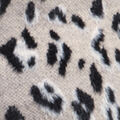 Textured Animal Print Sweater, Tan, swatch