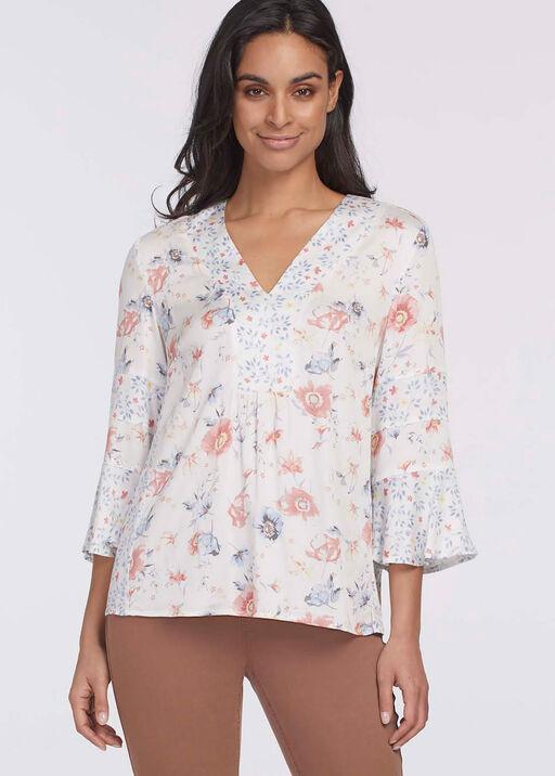 Alessia Ruffle Sleeve Top, White, original