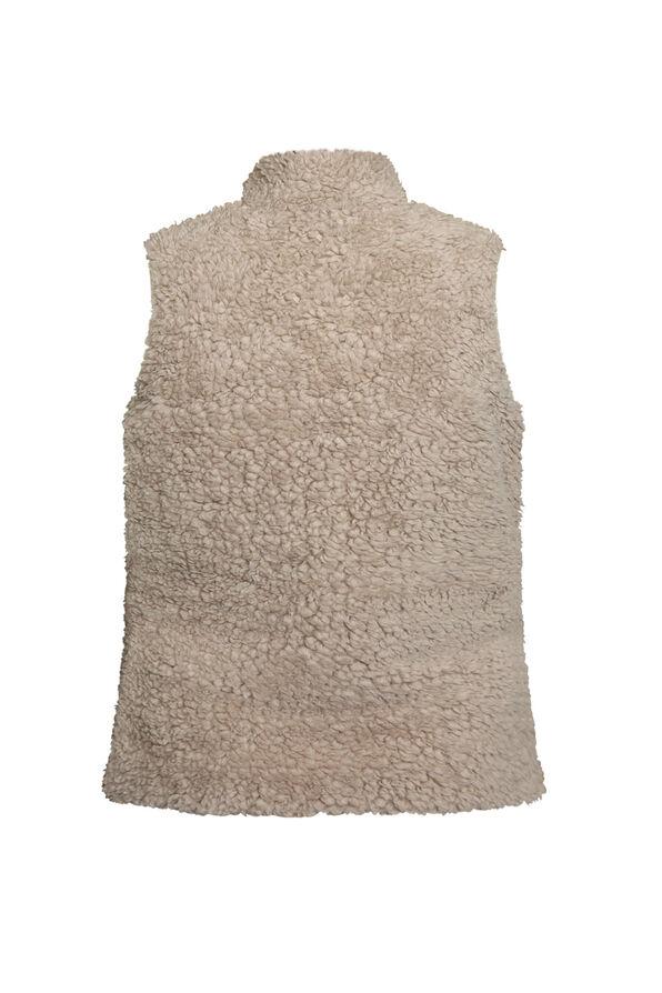 Reversible Sherpa Vest, Red, original image number 3