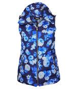 Spring Floral Puffer Vest, , original image number 1
