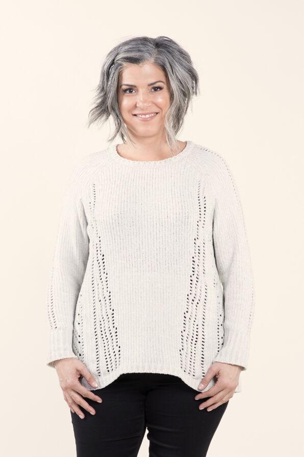 Long sleeve Pullover Sweater, Cream, original image number 2