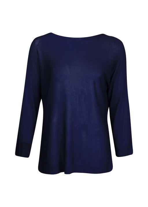 Seamless Neckline Sweater 3/4 Sleeve, , original