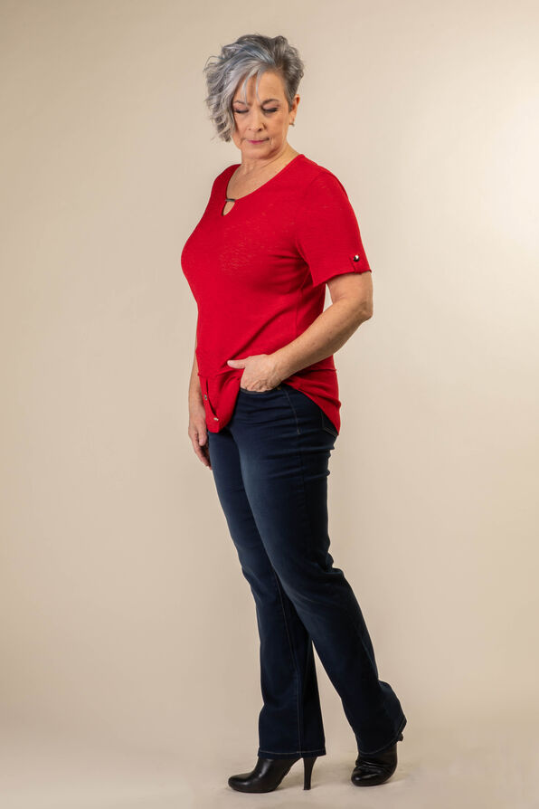 Simply Studded T Shirt, Red, original image number 1