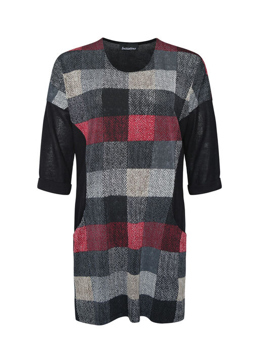 Checker Print Tunic , , original
