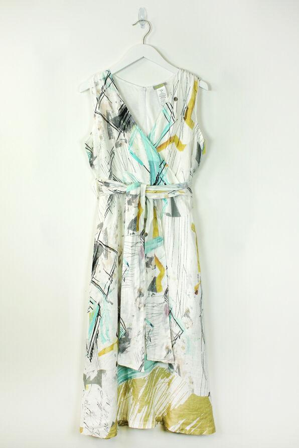 Art of Linen Dress, Aqua, original image number 0
