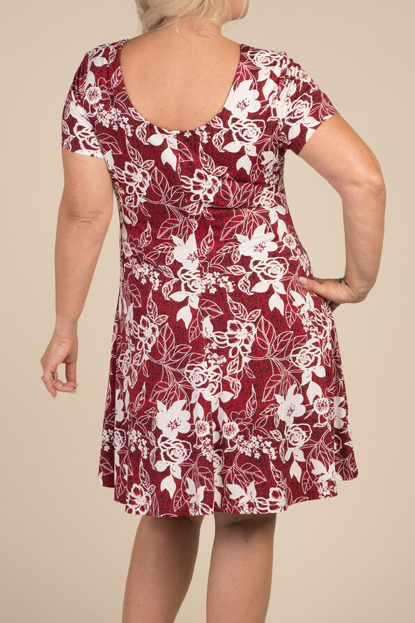 Rose Coloured Days Dress, Red, original image number 1