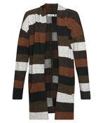 Retro Vibes Striped Cardigan, Brown, original image number 0
