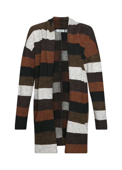 Retro Vibes Striped Cardigan, , original