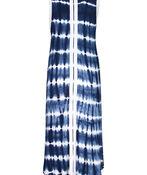 Tribal Sleeveless Tie Dye Maxi Dress , Blue, original image number 2