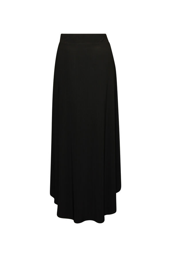 Hi-Lo Maxi Skirt, Black, original image number 1