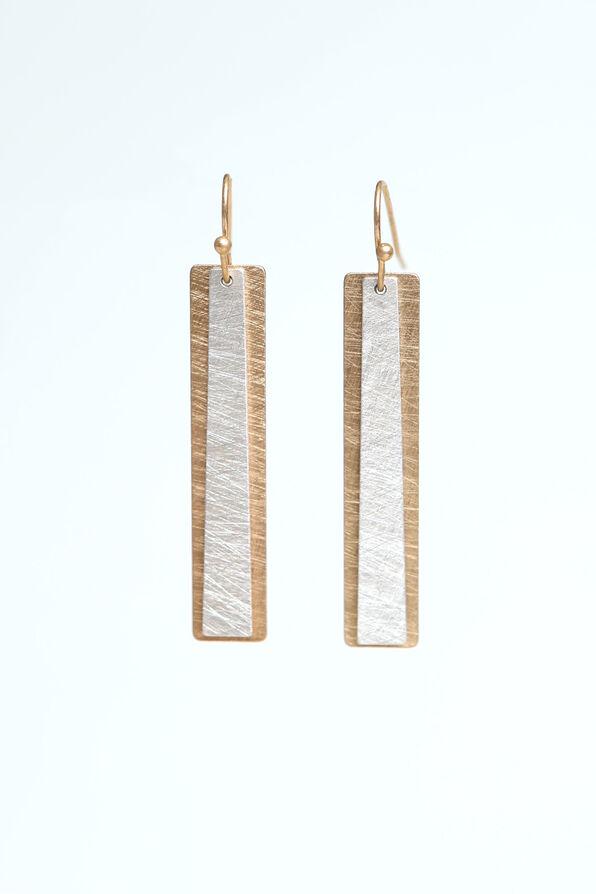 Rectangular Earrings, Multi, original image number 0