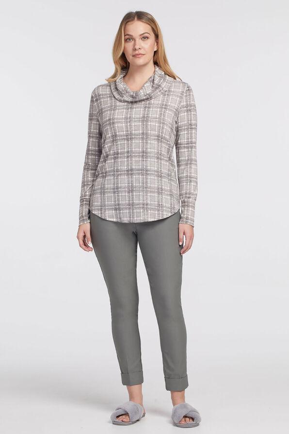Pastel Lightweight Cowlneck Sweater, , original image number 0