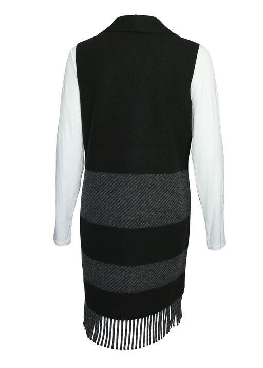 Fringe Tunic Vest, Black, original