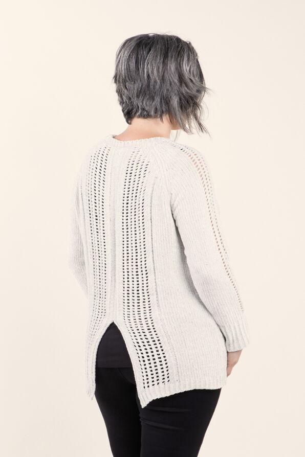 Long sleeve Pullover Sweater, Cream, original image number 1
