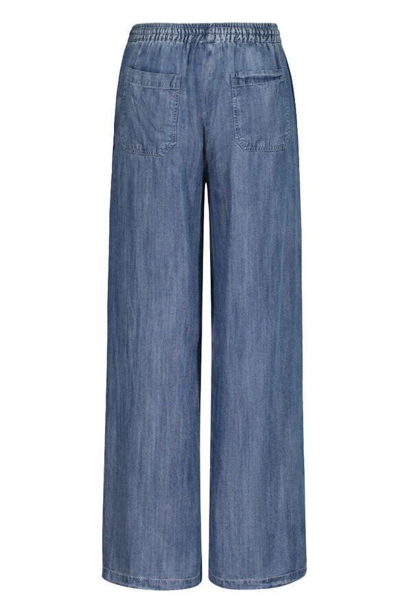 Lyocell Denim Wide Leg Pant, Denim, original image number 2