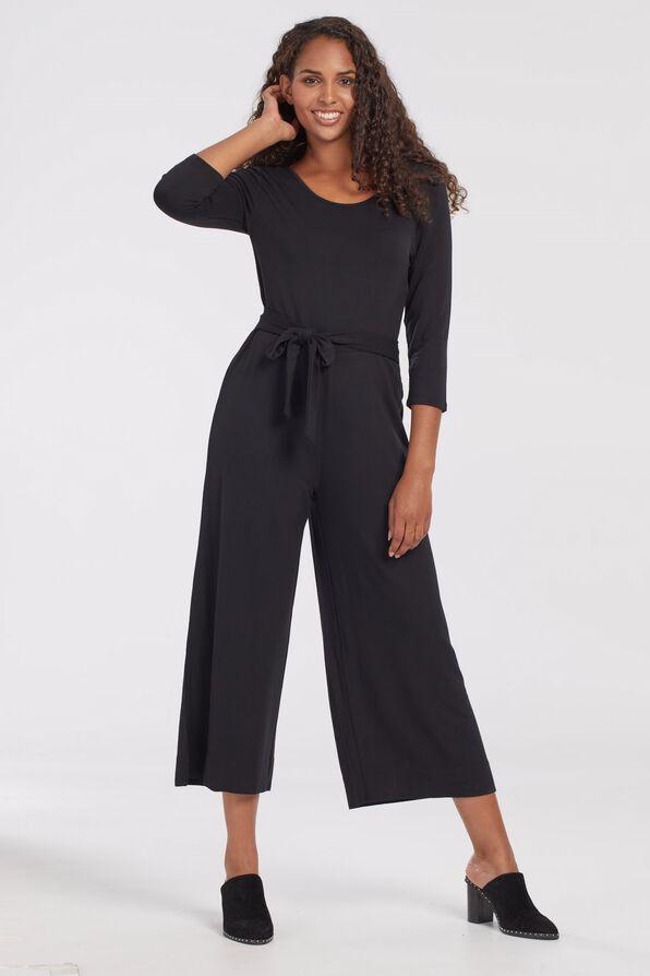 Wide Leg Jumpsuit, Black, original image number 2