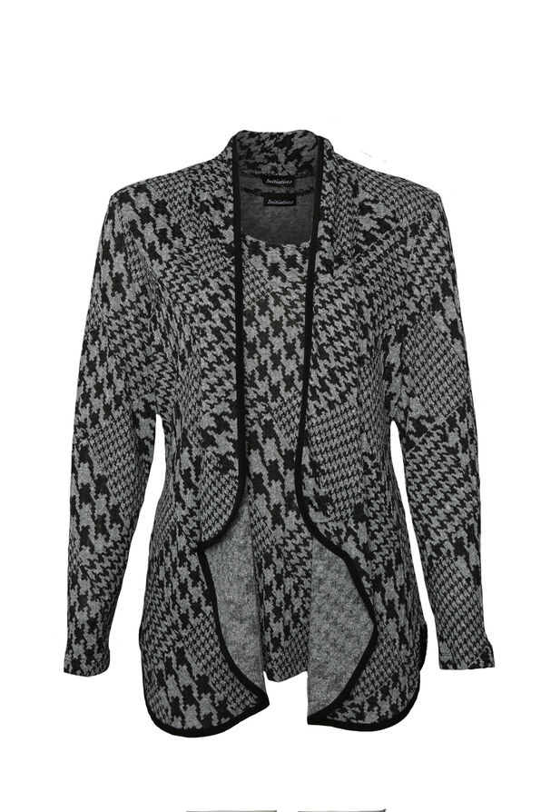 Houndstooth Twinset, Grey, original image number 0