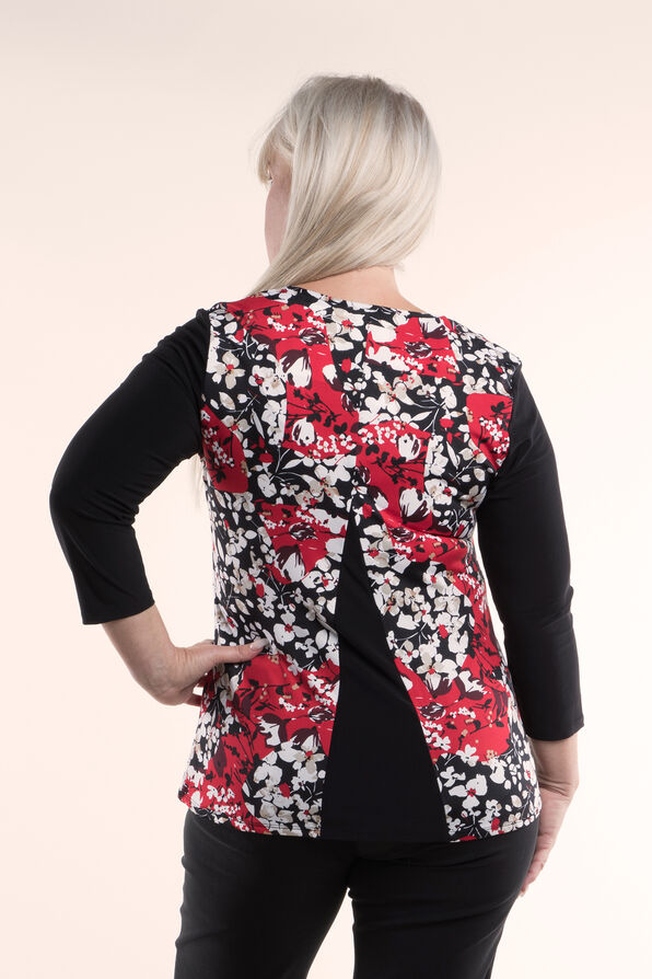 Tunic Top Fit and Flare, Red, original image number 1
