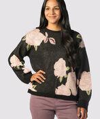 Clarkia Throwback Sweater, Black, original image number 0
