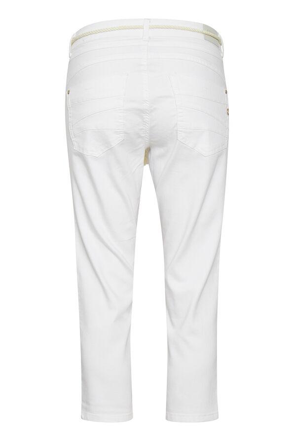 Cream Coco Fit Jeans Ava Capri Pant, White, original image number 1