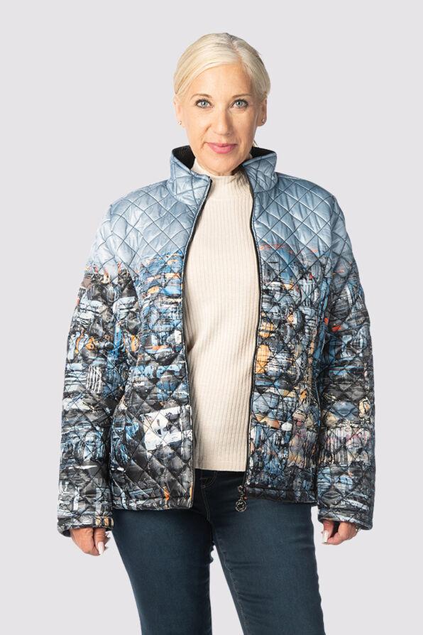 Canadian Puffer Jacket, Denim, original image number 0