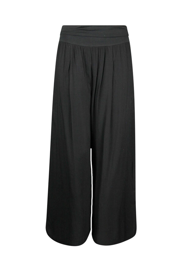Wide Leg Ankle Pant with Fold Over Waist, , original image number 0